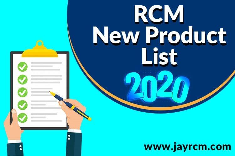 Rcm product price list 2020 - Rcm New Product Price List
